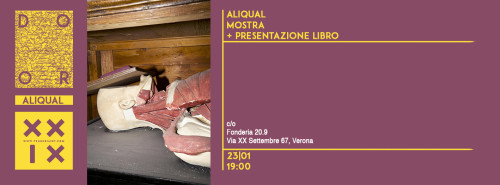 ALIQUAL MOSTRA + PRESENTAZIONE LIBRO/ALIQUAL EXHIBITION AND BOOKSIGNING